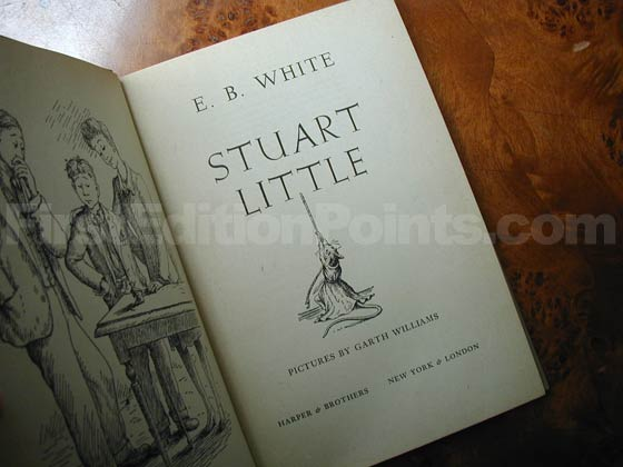 Picture of the first edition title page for Stuart Little.