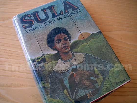 Picture of the 1974 first edition dust jacket for Sula.