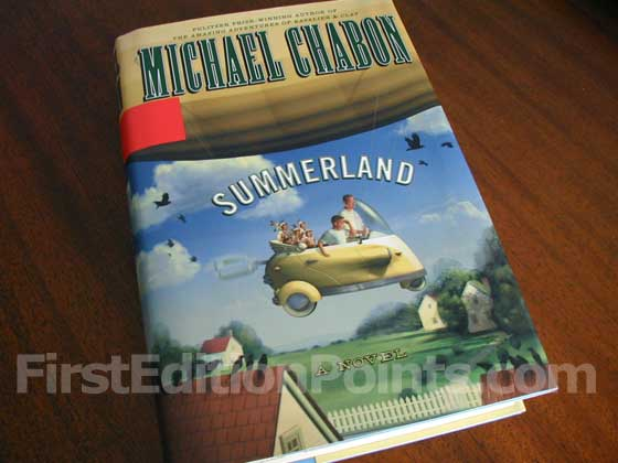 Picture of the 2002 first edition dust jacket for Summerland.