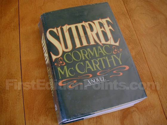 Picture of the 1979 first edition dust jacket for Suttree.