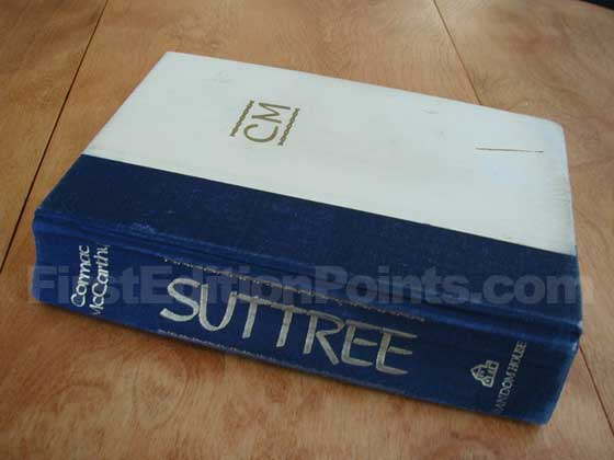 Picture of the first edition Random House boards for Suttree.