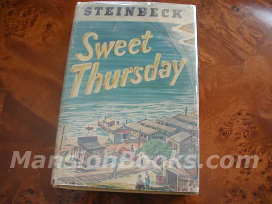 Picture of the 1954 first edition dust jacket for Sweet Thursday.