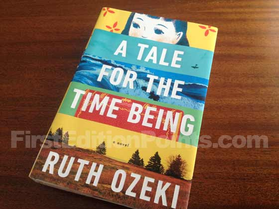 Picture of the 2013 first edition dust jacket for A Tale for the Time Being.