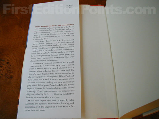 Picture of dust jacket where original $25.00 price is found for Telex from Cuba.