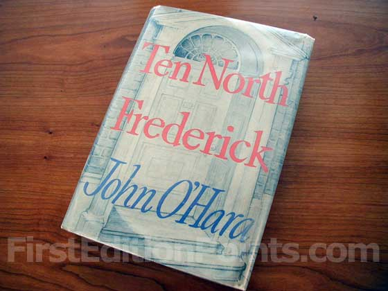 Picture of the 1955 first edition dust jacket for Ten North Frederick.