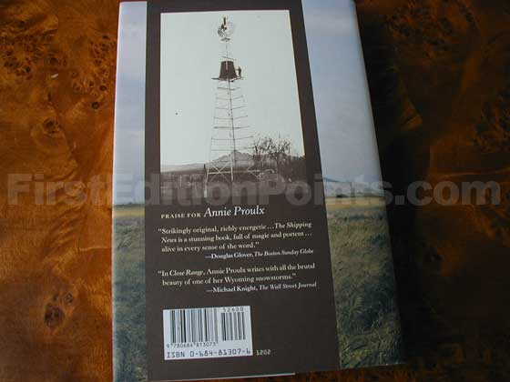 Picture of the back dust jacket for the first edition of That Old Ace in the Hole.