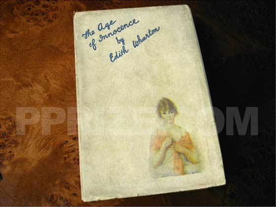 Picture of the 1920 first edition dust jacket for The Age of Innocence.