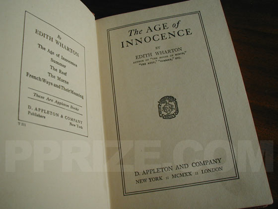 Picture of the title page for The Age of Innocence.