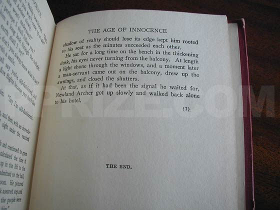 The number on the last page of text indicates the printing.  True first editions should