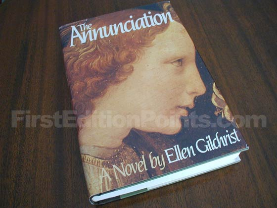 Picture of the 1983 first edition dust jacket for The Annunciation.