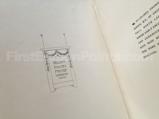 Picture of the first edition copyright page for The Art and Craft of Garden Making.