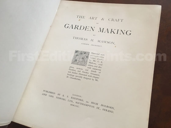 Picture of the title page from the first edition of The Art and Craft of Garden Mak