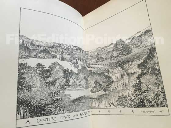 "The first illustration entitle ""A Country House and Gardens"" found before the preface in"