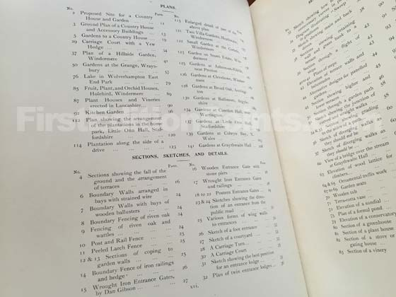 "The first edition of The Art and Craft of Garden Making contains 24 ""Plans""; and 84"