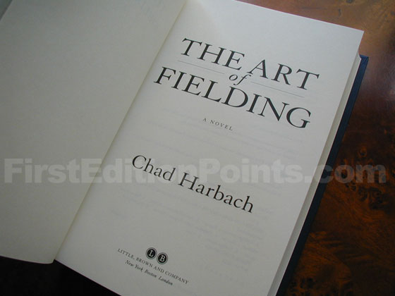 Picture of the first edition title page for The Art of Fielding.