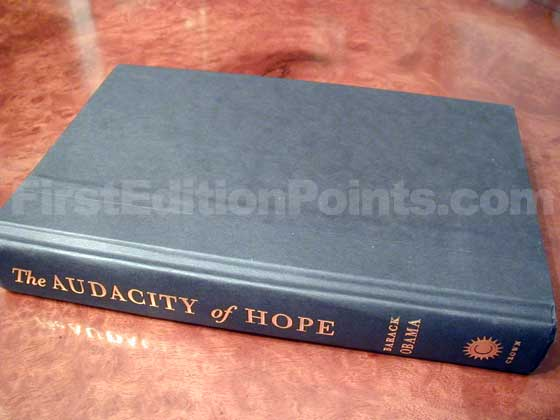 Picture of the first edition Crown boards for The Audacity of Hope.