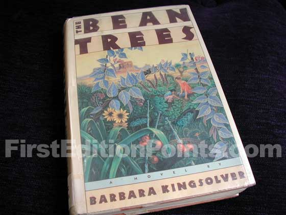 Picture of the 1988 first edition dust jacket for The Bean Trees.