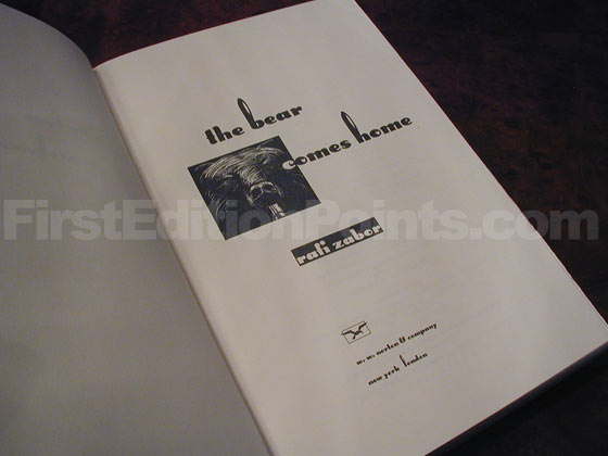 Picture of the first edition title page for The Bear Comes Home.