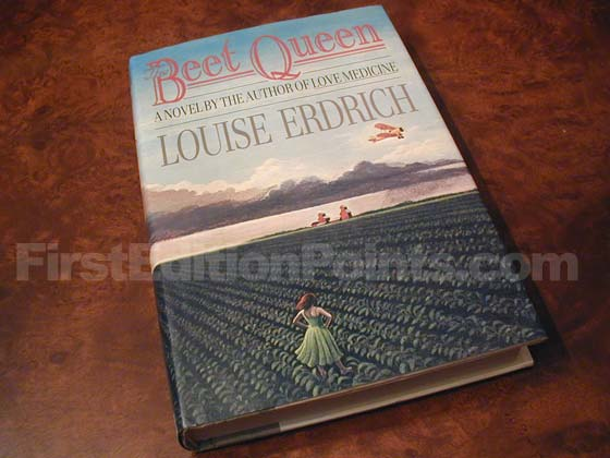 Picture of the 1986 first edition dust jacket for The Beet Queen.
