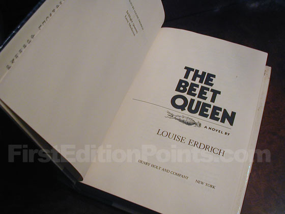 Picture of the first edition title page for The Beet Queen.