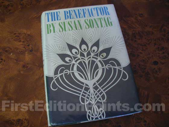 Picture of the 1963 first edition dust jacket for The Benefactor.