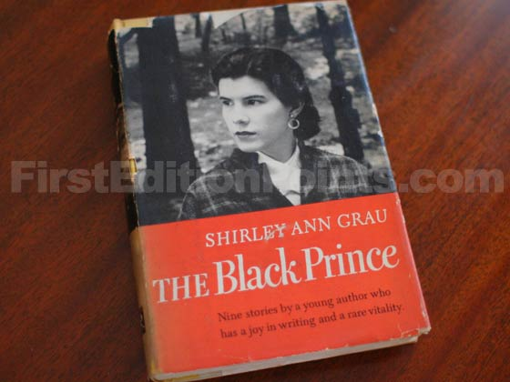 Picture of the 1955 first edition dust jacket for The Black Prince.