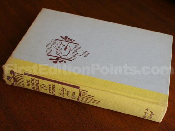 Picture of the first edition Alfred A. Knopf boards for The Black Prince.