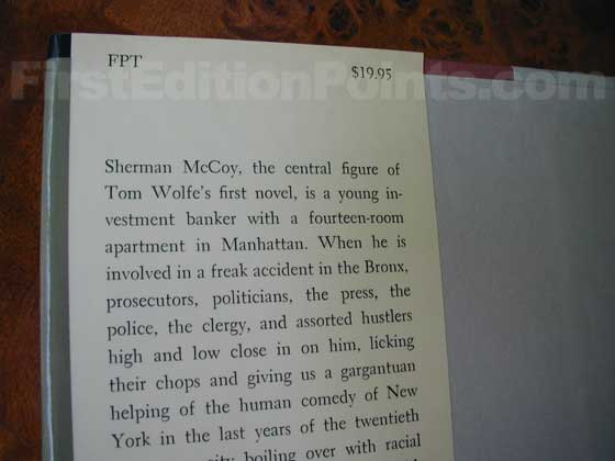 This is the top front flap from the first trade edition.