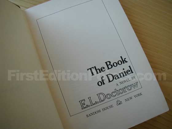 Picture of the first edition title page for The Book of Daniel.