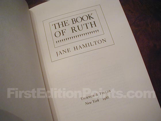 Picture of the first edition title page for The Book of Ruth.