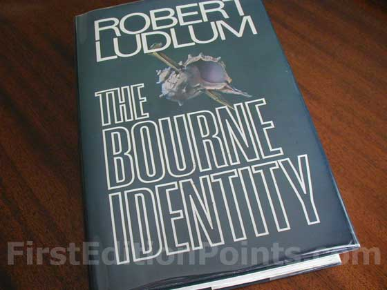 Picture of the 1980 first edition dust jacket for The Bourne Identity.