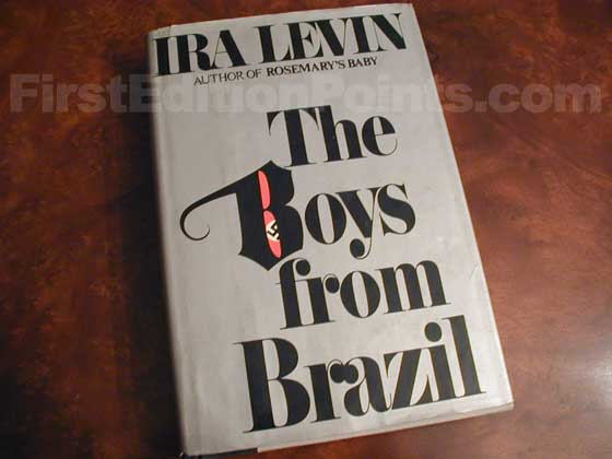 Picture of the 1976 first edition dust jacket for The Boys from Brazil.