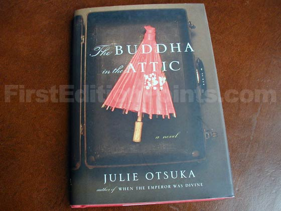 Picture of the 2011 first edition dust jacket for The Buddha in the Attic.