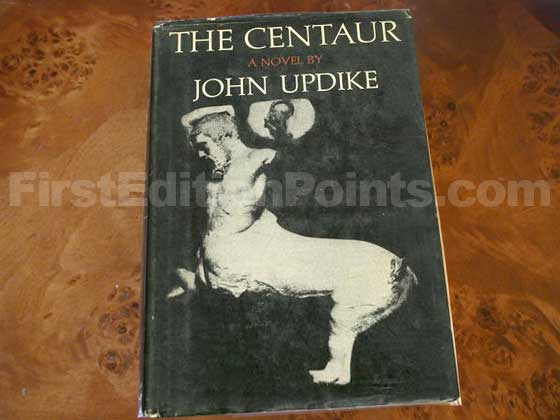 Picture of the 1963 first edition dust jacket for The Centaur.