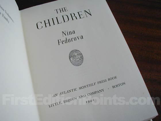Picture of the first edition title page for The Children.