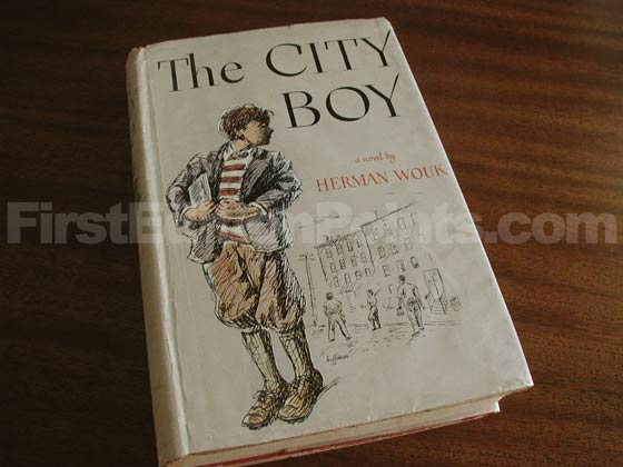 Picture of the 1948 first edition dust jacket for The City Boy.