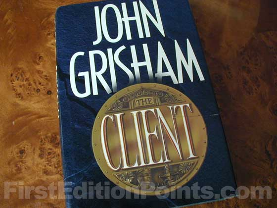 Picture of the 1993 first edition dust jacket for The Client.
