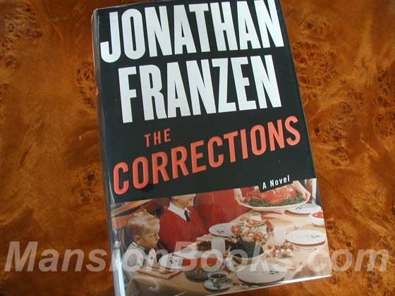 Picture of the 2001 first edition dust jacket for The Corrections.