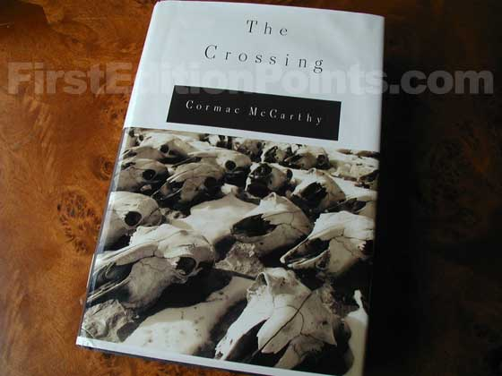 Picture of the 1994 first edition dust jacket for The Crossing.