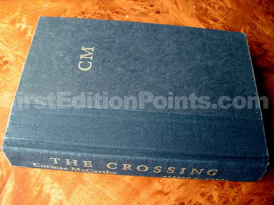 Picture of the first edition Alfred A. Knopf boards for The Crossing.