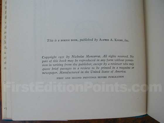 This is the copyright page for the second printing, which is often confused for the true