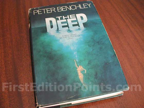 Picture of the 1976 first edition dust jacket for The Deep.