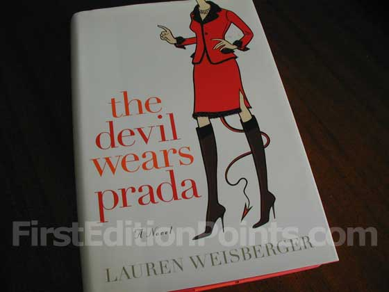 Picture of the 2003 first edition dust jacket for The Devil Wears Prada.