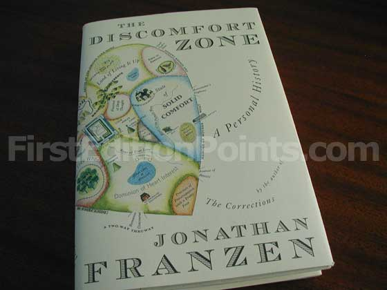 Picture of the 2006 first edition dust jacket for The Discomfort Zone.