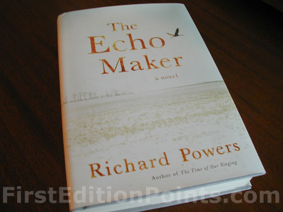 Picture of the 2006 first edition dust jacket for The Echo Maker.