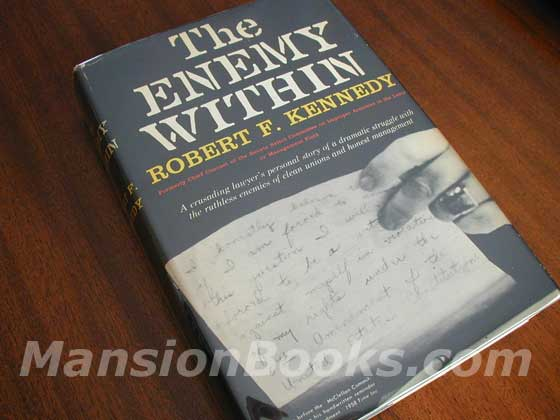 Picture of the 1960 first edition dust jacket for The Enemy Within.