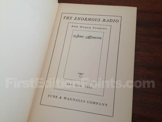 Picture of the first edition title page for The Enormous Radio.