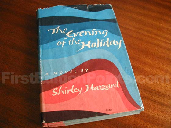Picture of the 1966 first edition dust jacket for The Evening of the Holiday .
