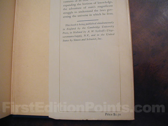 Picture of dust jacket where original $2.50 price is found for The Evolution of Physics