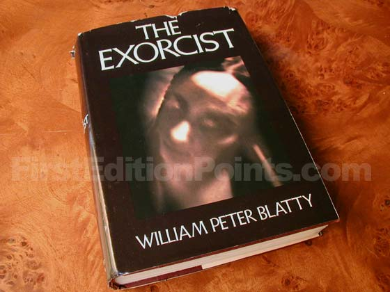 Picture of the 1971 first edition dust jacket for The Exorcist.